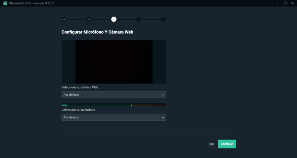 configurar camara web para streams