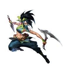 New official Akali art on the newly updated League site : akalimains