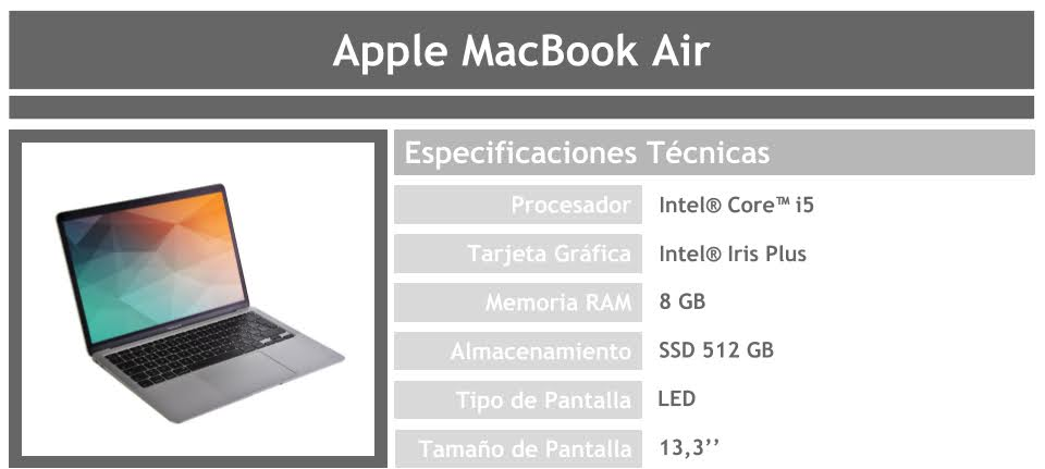 Portátil Apple MacBook Air