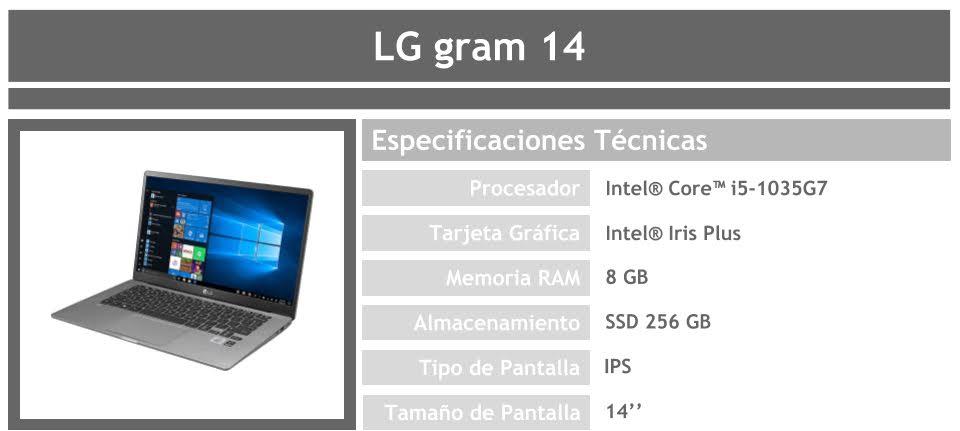 Portátil LG gram 14