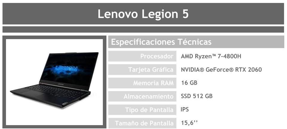 Portátil Lenovo Legion 5