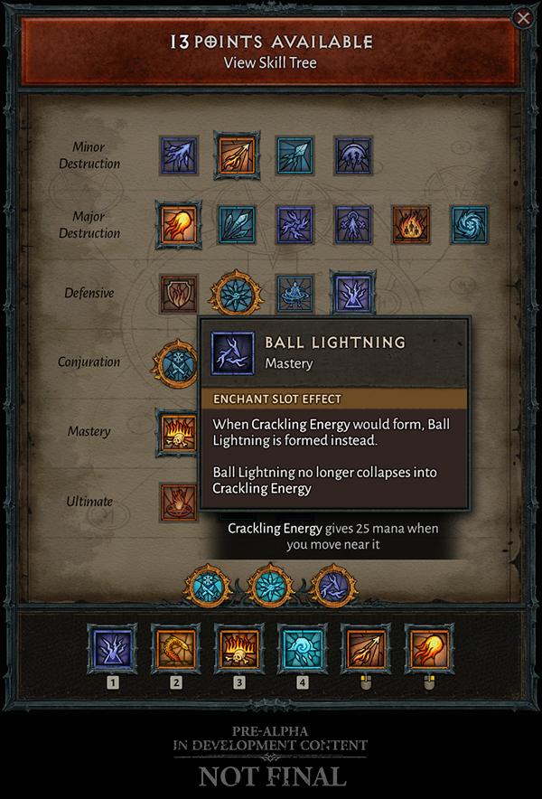 Puntos de habilidades Mago Diablo IV