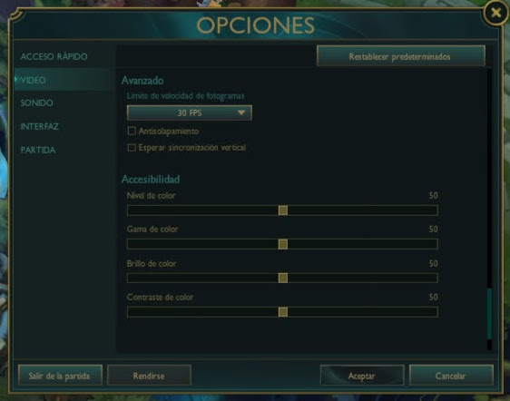 como mejorar los fps en league of legends