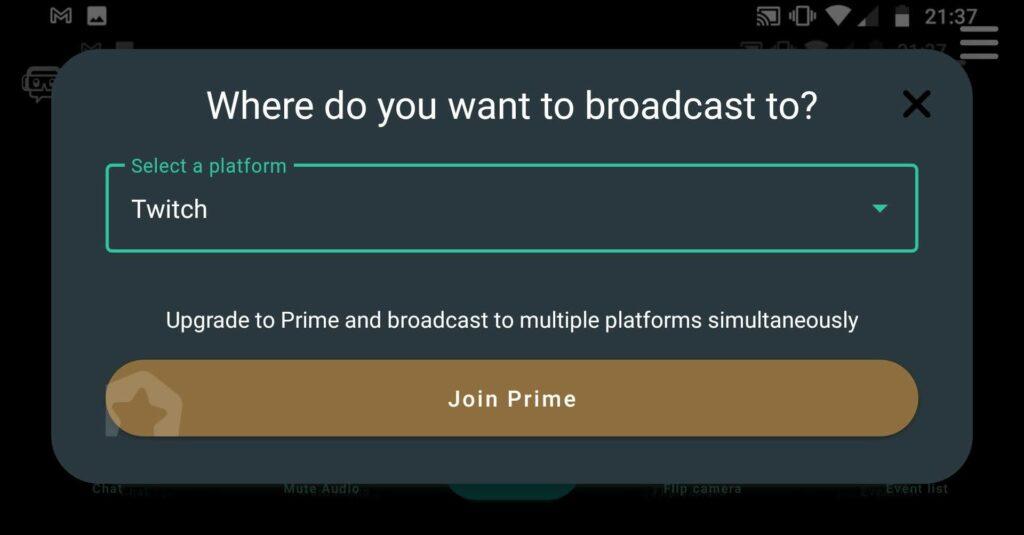como conectar twitch para hacer stream desde el movl