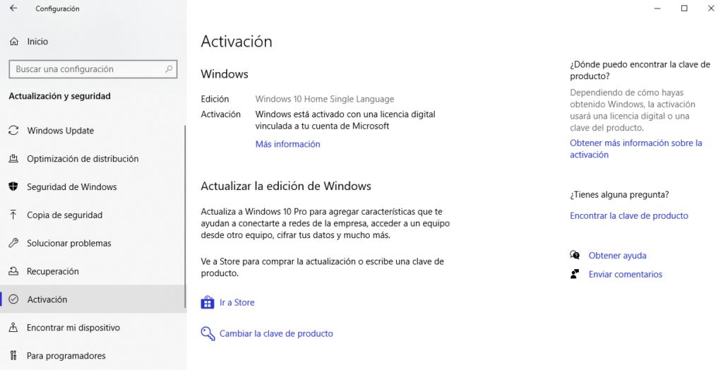 como activar windows con clave de producto