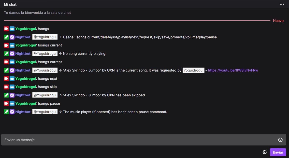 como poner musica en el chat de twitch con nightbot