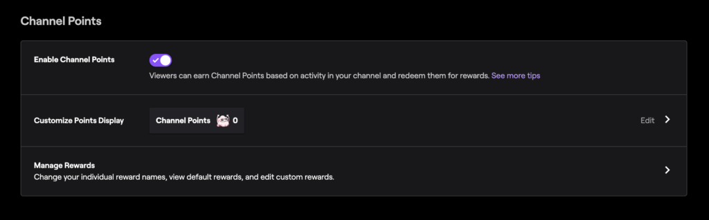como poner puntos de canal en el chat de twitch