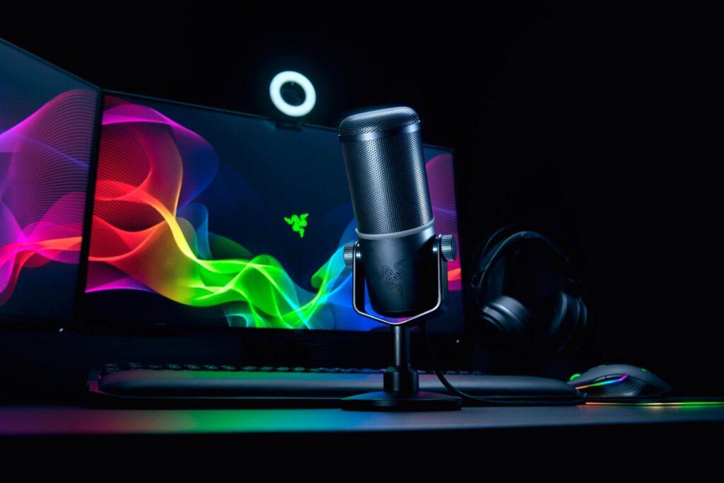 micrófono razer seirēn elite youtubers streamers