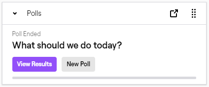 comando para hacer encuestas en twitch