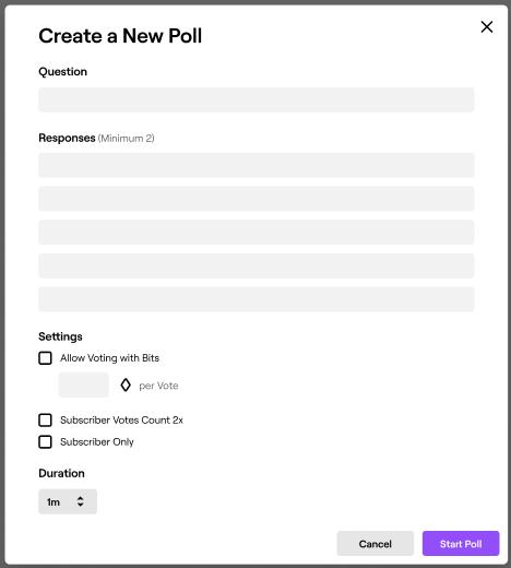 como hacer encuestas en twitch siendo moderador