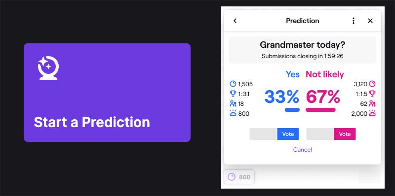 como hacer una prediccion en twitch