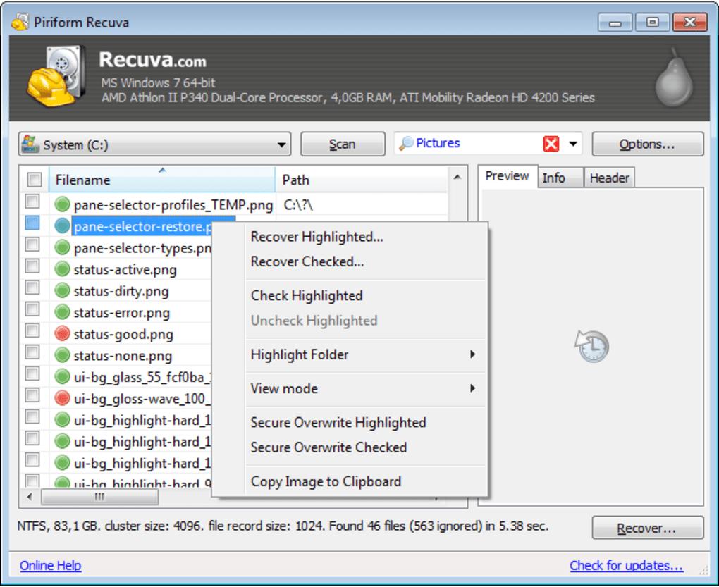 como recuperar archivos borrados en windows 10 con recuva
