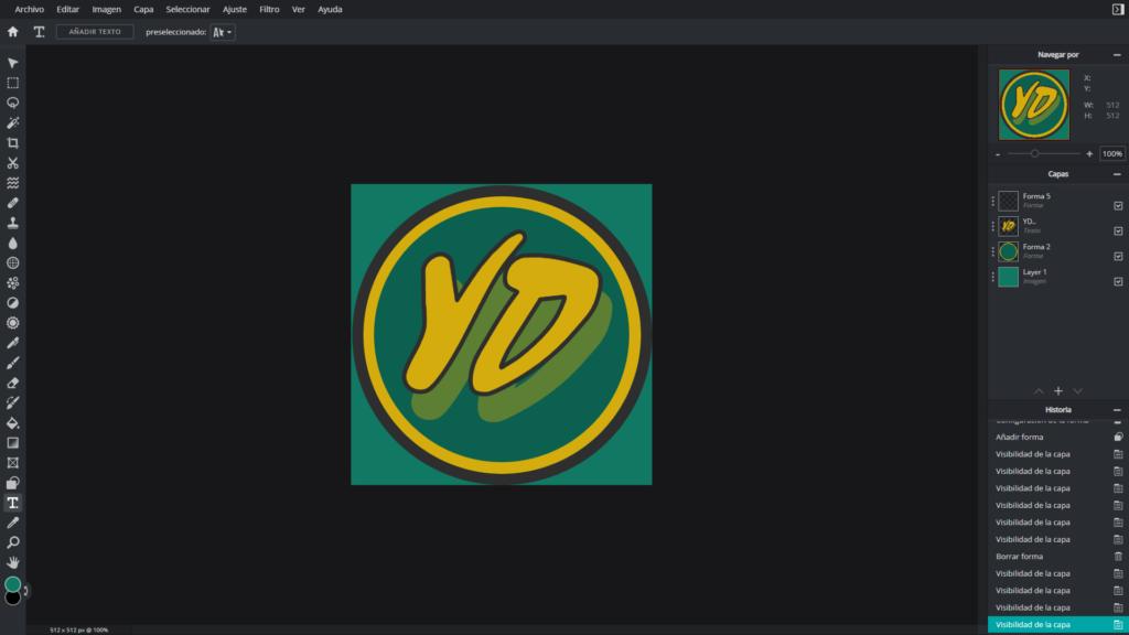 como hacer un logo para tu canal de youtube en pc