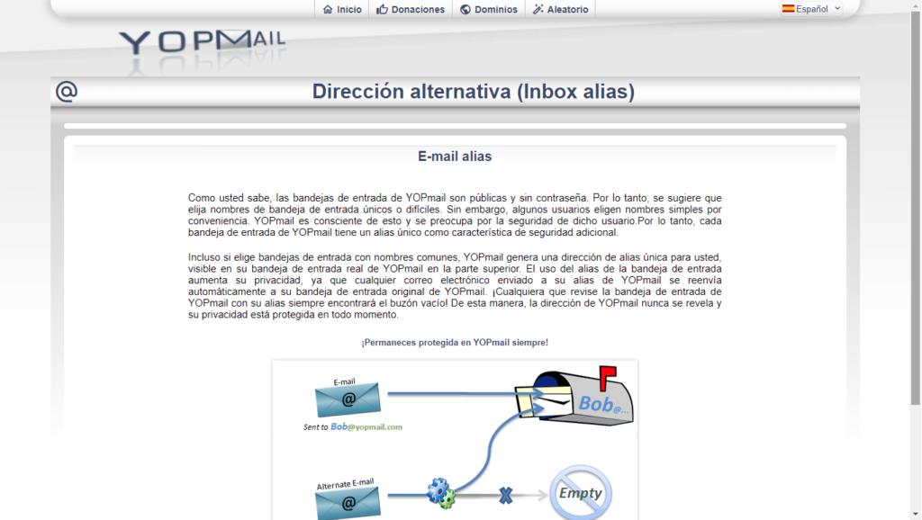 cuales son las ventajas de usar un correo temporal yopmail