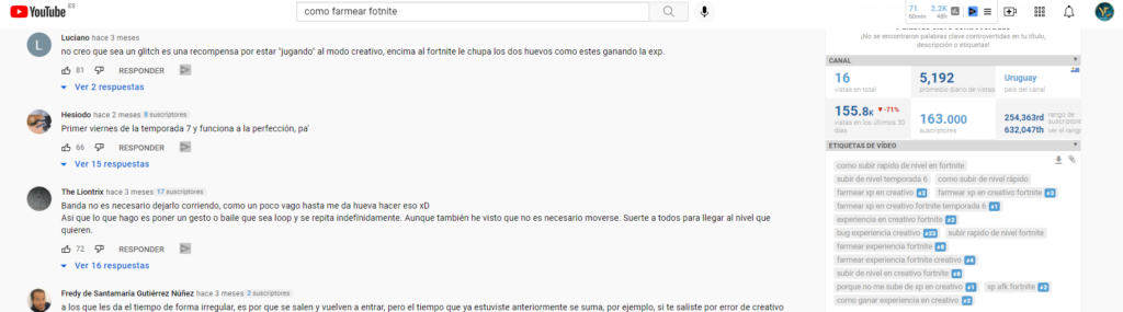 etiquetas seo youtube vidiq