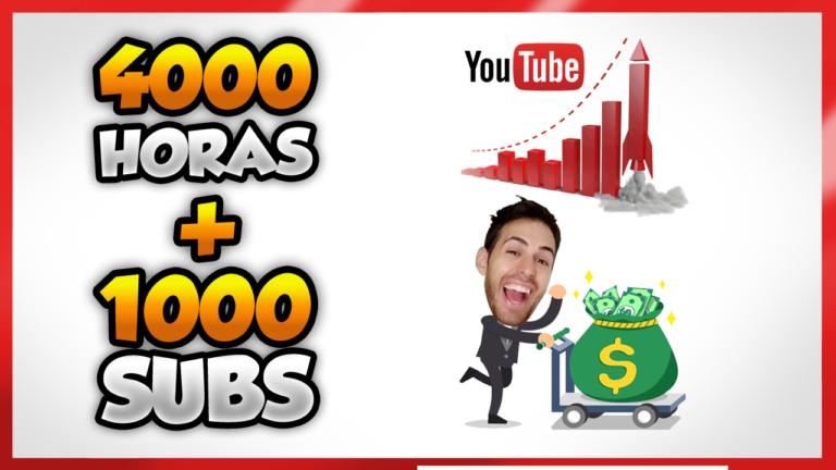 como conseguir 1000 suscriptores y 4000 horas en youtube