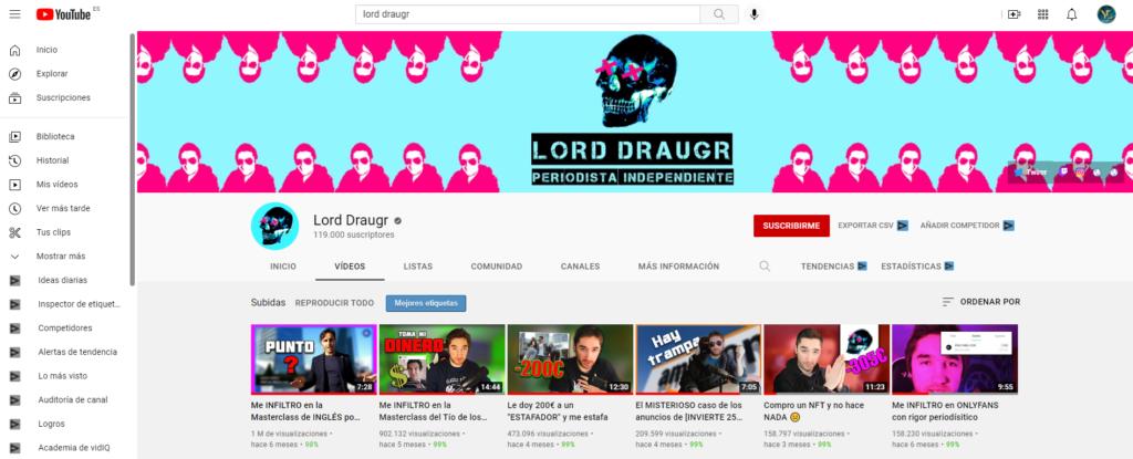 videos mas populares de lord draugr